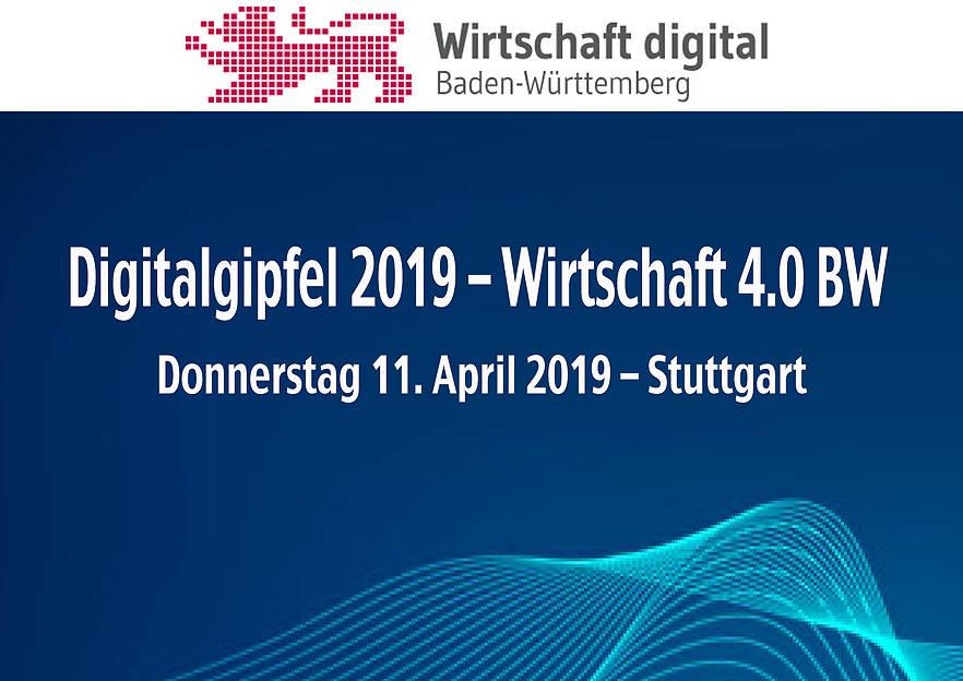 Das Ministerium für Wirtschaft, Arbeit und Wohnungsbau Baden-Württemberg lädt zum zweiten Digitalgipfel 2019 – Wirtschaft 4.0 BW ein.