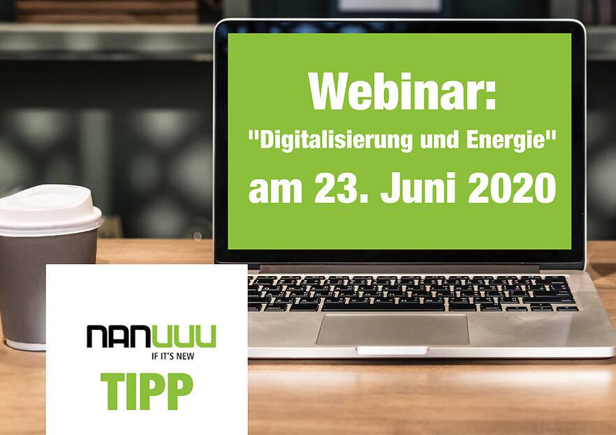 """Einladung zum Webinar: """"Digitalisierung und Energie"""""""