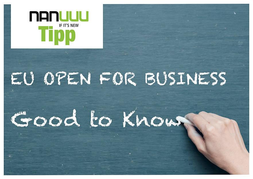 EU OPEN FOR BUSINESS – Kleine Unternehmen, Große Ambitionen