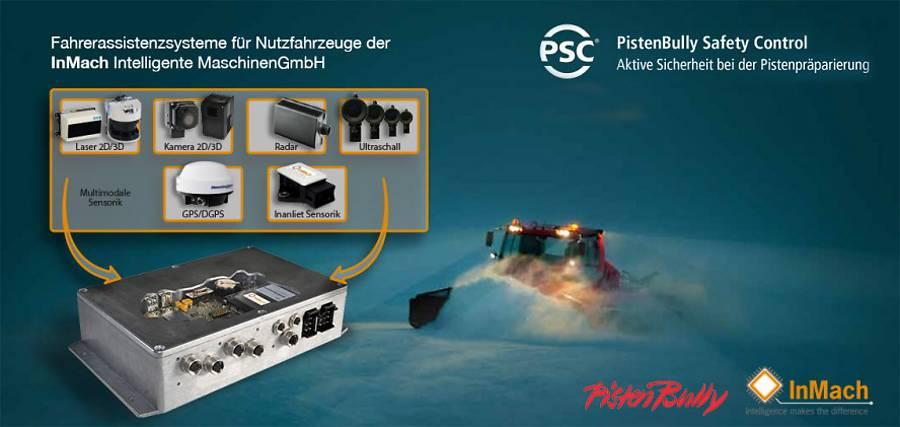 Auf der Interaplin 2013 in Innsbruck wurde das von IInMach Intelligente Maschinen GmbH entwickelte Fahrerassistenzsystem PSC vorgestellt.