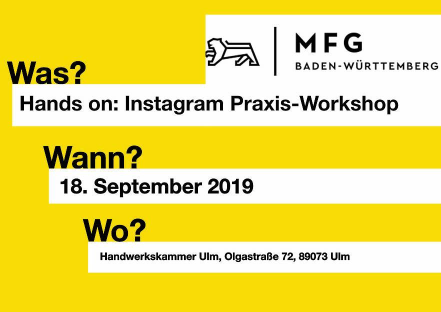 Hands on: Instagram Praxis-Workshop  Teil 2