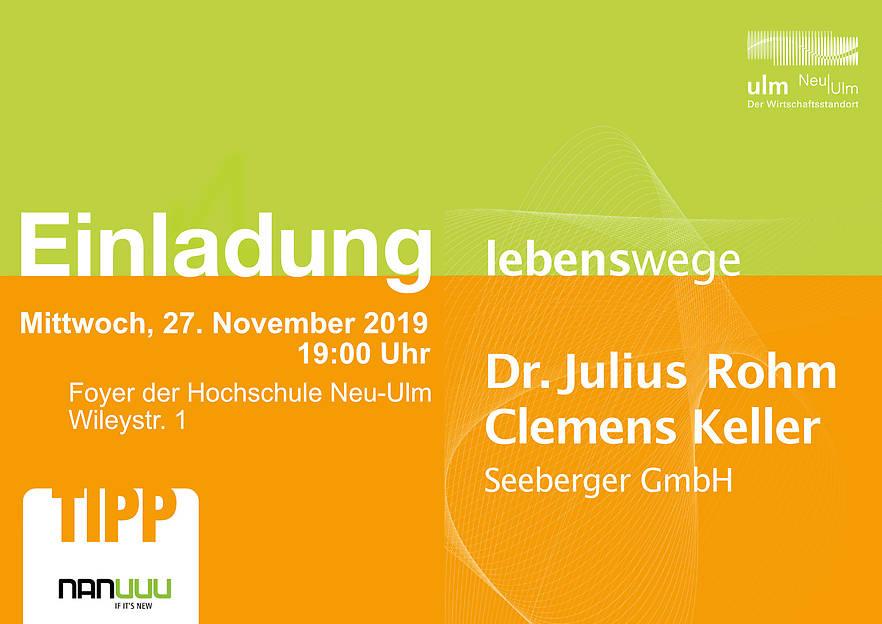Lebenswege: Dr. Julius Rohm und Clemens Keller – Seeberger GmbH