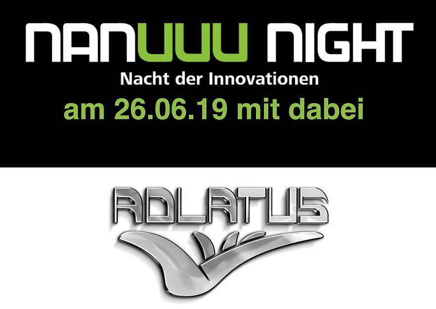 Adlatus auf der nanuuu-night – Die Nacht der Innovationen in der Logistik