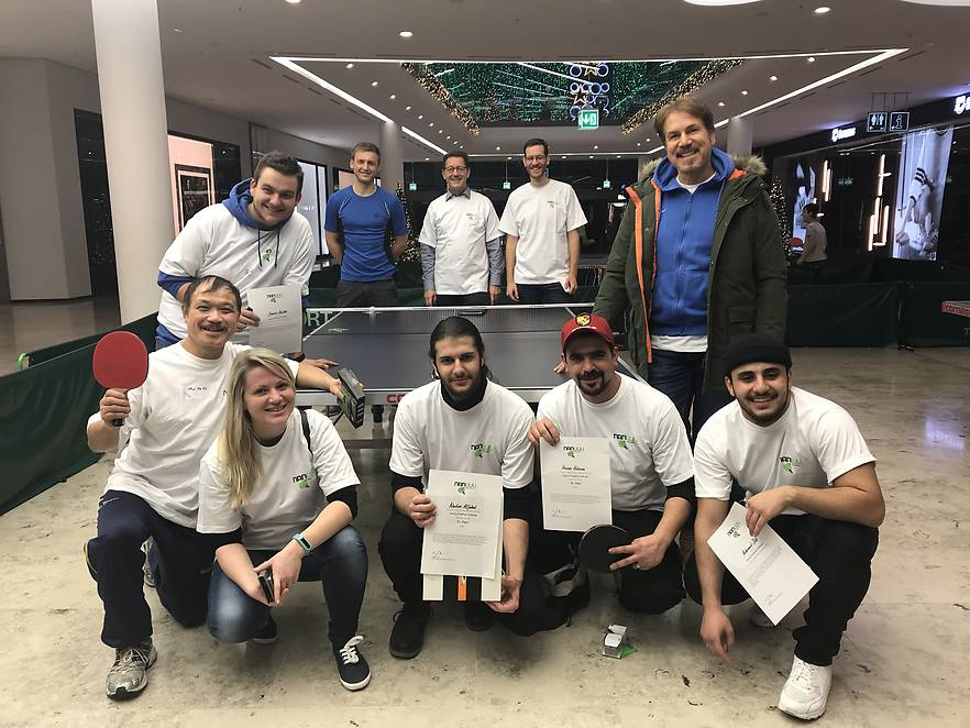 PingPong Challenge in der Glacis–Galerie