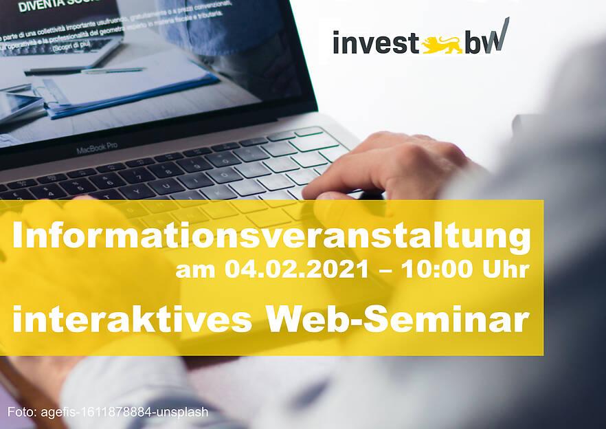 Webinar:  Innovations- und Investitionsförderprogramm Invest BW