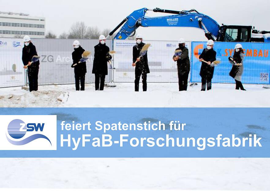 ZSW feiert Spatenstich für HyFaB-Forschungsfabrik