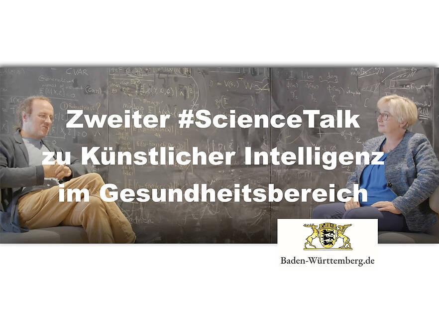 Zweiter ScienceTalk zu Künstlicher Intelligenz im Gesundheitsbereich